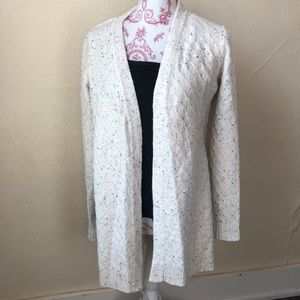 Belldini Open Speckled Cardigan M White and Black